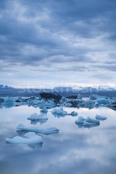 Gletsjer IJsland landschap landschap ijs hemel Stockfoto © JanPietruszka