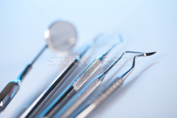 Photo stock: Dentaires · outils · équipement · médecine · miroir · outil