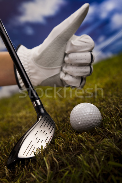 Thumbs up on golf Stock photo © JanPietruszka