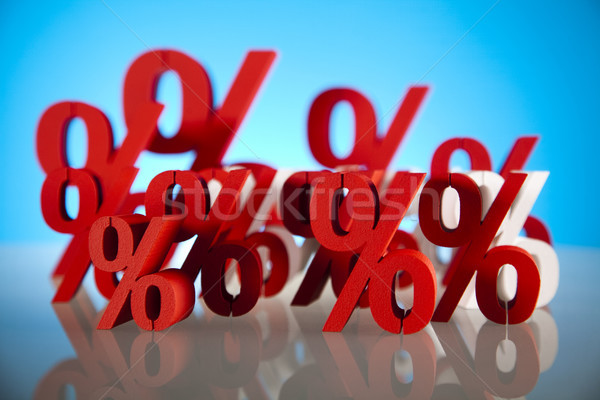 Pourcentage réduction affaires signe rouge banque Photo stock © JanPietruszka