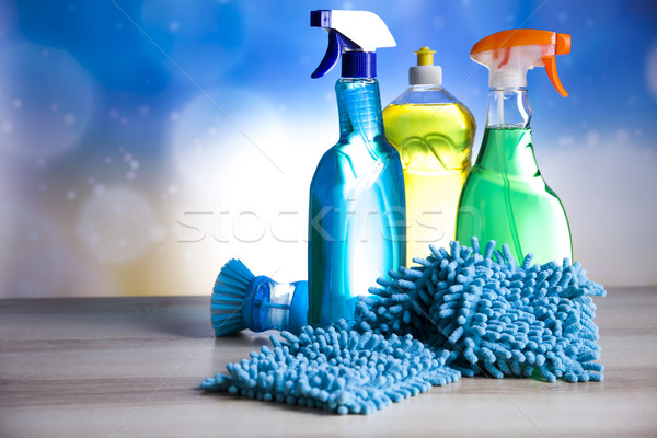 Variety of cleaning products,home work Stock photo © JanPietruszka