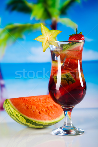 Alcoholic cocktails with fruits, natural colorful tone Stock photo © JanPietruszka