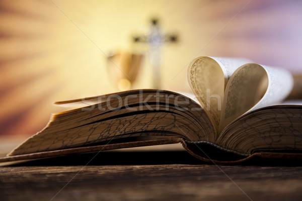 Eucharist, sacrament of communion, bright background, saturated concept Stock photo © JanPietruszka