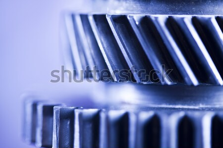 Gears meshing together, technic concept Stock photo © JanPietruszka