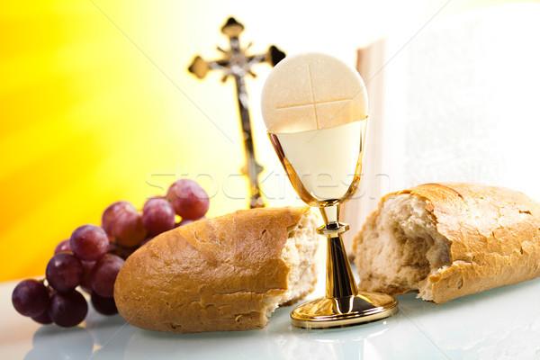 Cemaat parlak İsa ekmek İncil Stok fotoğraf © JanPietruszka