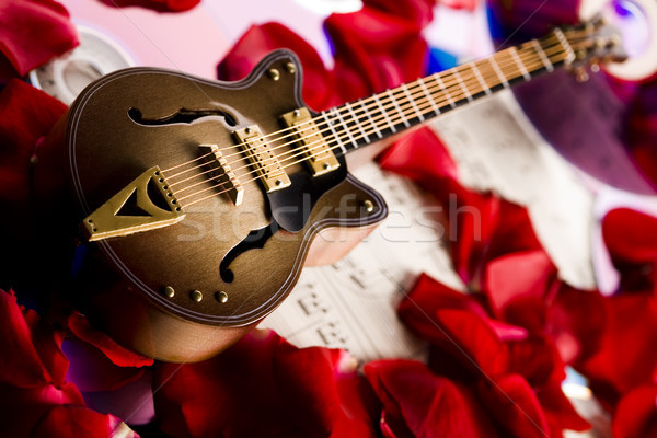 Music on disc and Guitar Stock photo © JanPietruszka