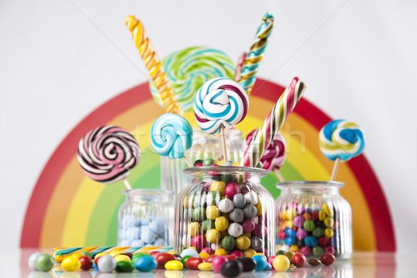 Gom kleurrijk verschillend gekleurd Stockfoto © JanPietruszka