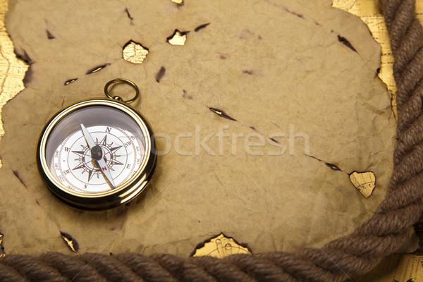 старые стиль компас бумаги карта фон Сток-фото © JanPietruszka