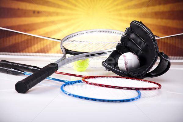 Equipamentos esportivos golfe futebol esportes tênis beisebol Foto stock © JanPietruszka