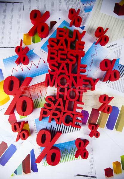 Stok fotoğraf: Indirim · yüzde · imzalamak · kırmızı · finanse · başarı
