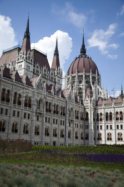 Budapest, view of parliament,Hungary Stock photo © JanPietruszka