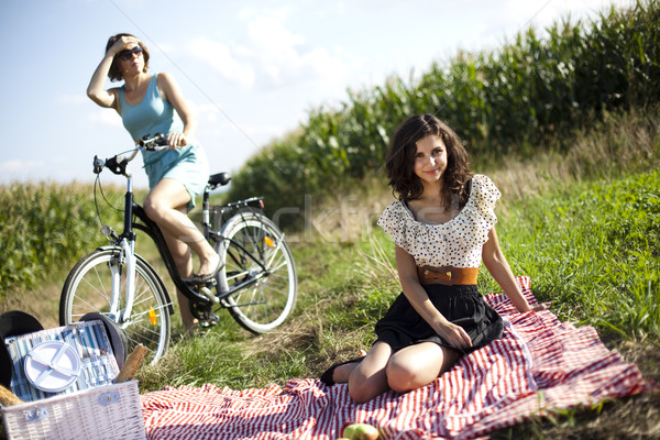 女の子 夏 自由時間 少女 ツリー 幸せ ストックフォト © JanPietruszka