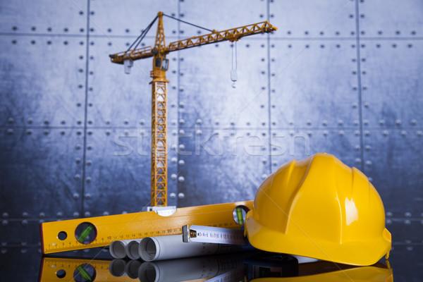 Edifici costruzione costruzione gru progetti business Foto d'archivio © JanPietruszka