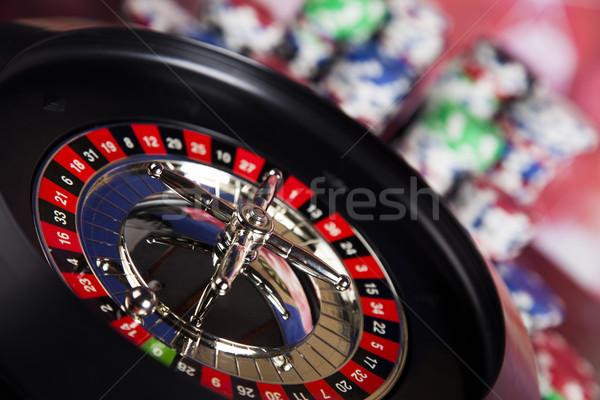 カジノ ルーレット 楽しい 黒 ストックフォト © JanPietruszka