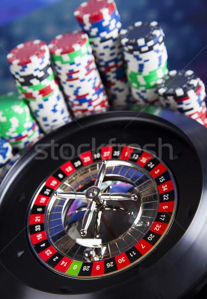 Casino ruleta diversión negro Foto stock © JanPietruszka
