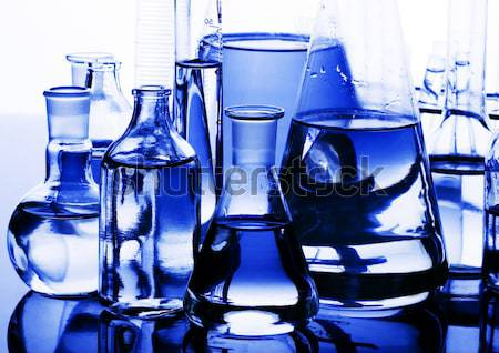 Chemistry on background, bright modern chemical concept Stock photo © JanPietruszka