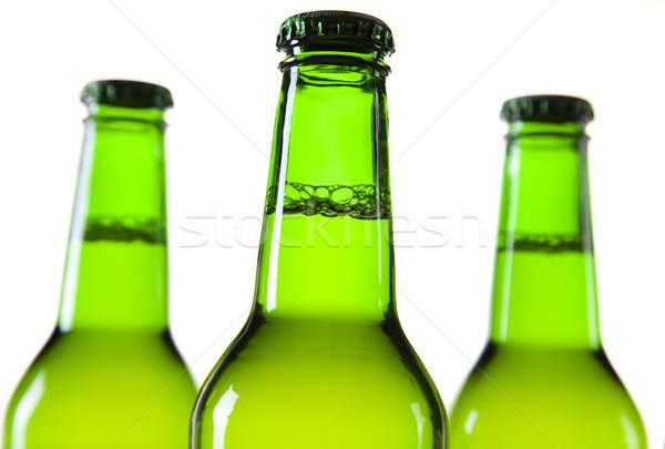 Zöld üveg sör gyűjtemény üveg stúdió Stock fotó © JanPietruszka