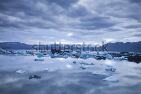 Geleira Islândia paisagem cenário gelo céu Foto stock © JanPietruszka