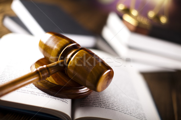 Wooden gavel barrister, justice concept, legal system  Stock photo © JanPietruszka