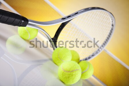 Tennis racket and ball Stock photo © JanPietruszka