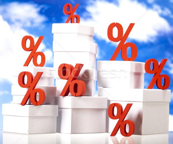 Percentage korting kleurrijk Rood financieren bank Stockfoto © JanPietruszka