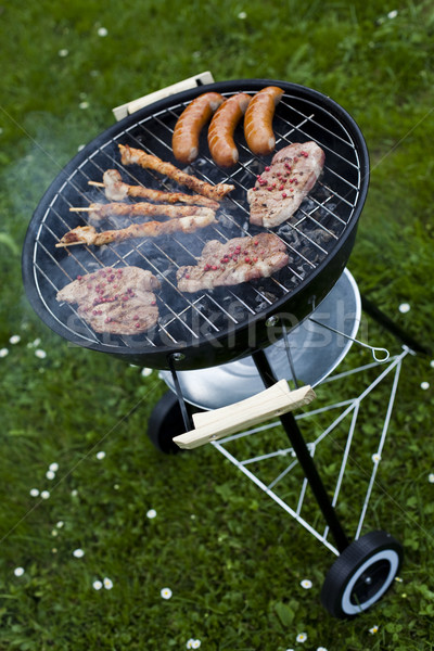 Grilling at summer weekend, bright colorful vivid theme Stock photo © JanPietruszka