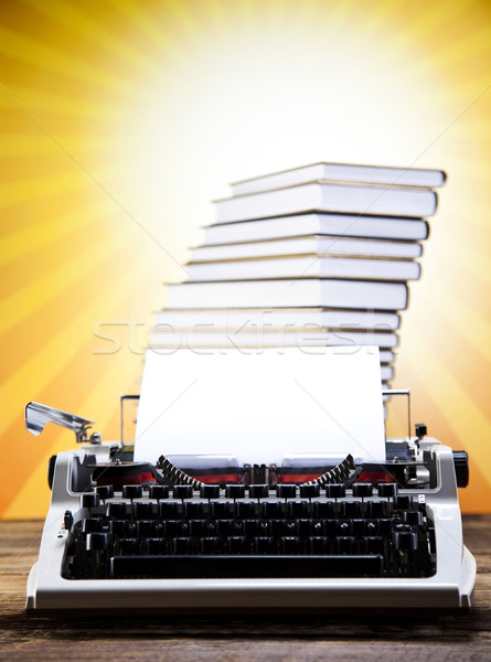 Vintage typewriter on old book Stock photo © JanPietruszka