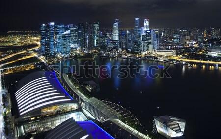 Skyline Singapour financière centre ciel eau Photo stock © JanPietruszka