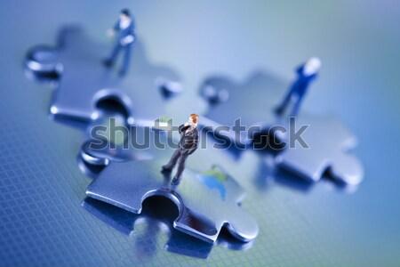 üzlet idő modern hálózat szimbólumok üzletember Stock fotó © JanPietruszka
