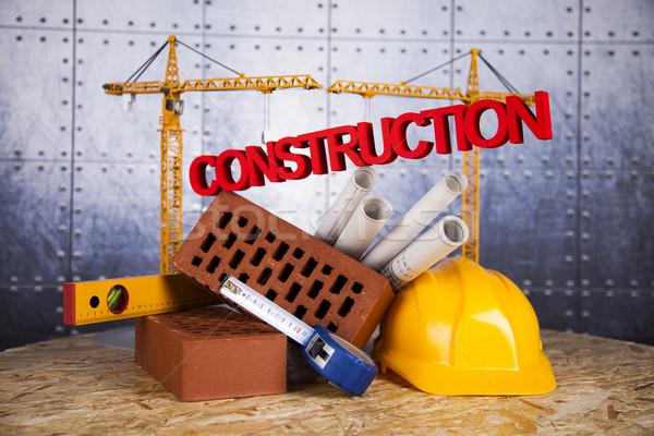 épületek építkezés épület állvány tervrajzok üzlet Stock fotó © JanPietruszka