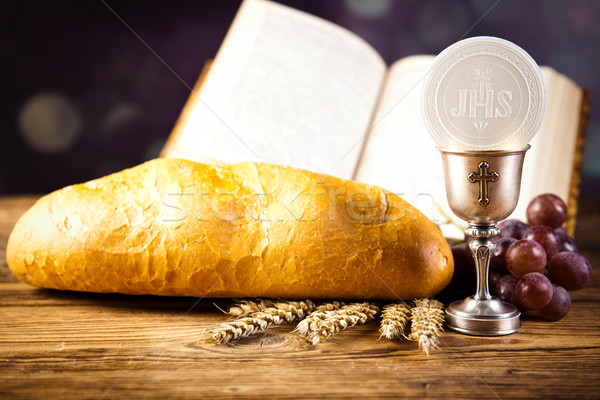 Stock photo: Holy of communion, bright background, saturated concept
