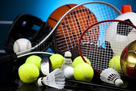 Sport equipment and balls Stock photo © JanPietruszka