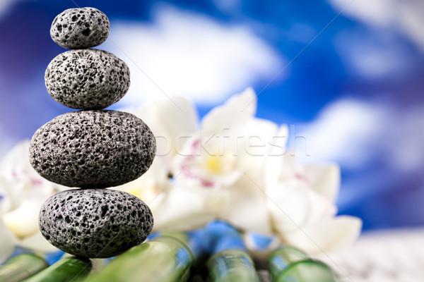 Stok fotoğraf: Dengeli · zen · taşlar · grup · kaya · dinlenmek