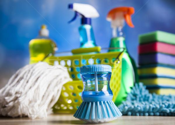 Prodotti di pulizia home lavoro colorato gruppo bottiglia Foto d'archivio © JanPietruszka