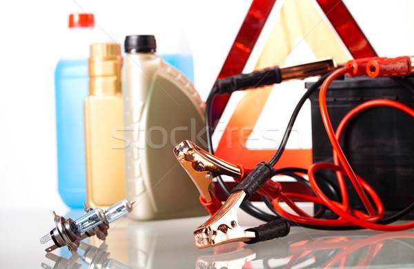 Stock fotó: Autó · elem · élénk · moto · piros · energia