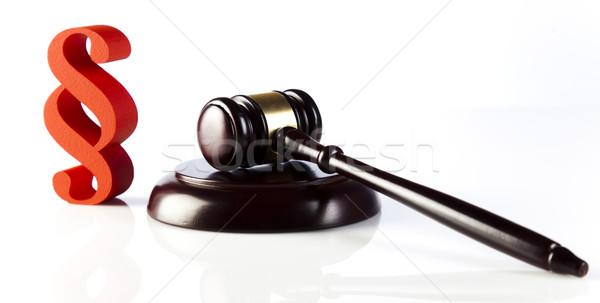 Paragraphe droit justice bois marteau bois Photo stock © JanPietruszka