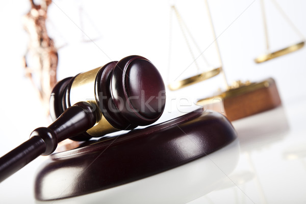 Stock photo: Court gavel,Law theme, mallet of judge