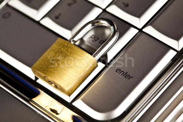 Sécurité ordinateur modernes réseau symboles affaires Photo stock © JanPietruszka