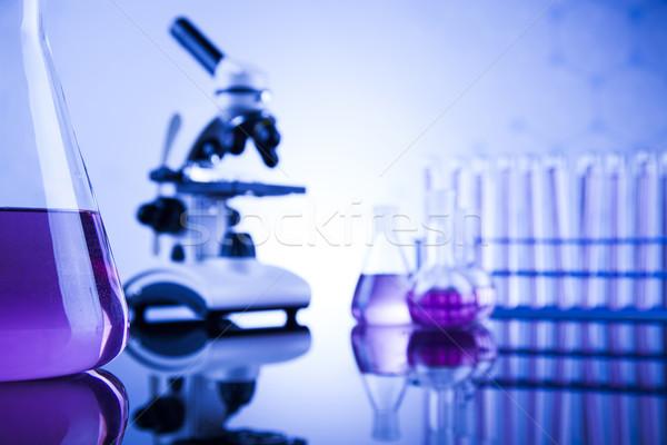 Microscopio medici laboratorio cristalleria istruzione medicina Foto d'archivio © JanPietruszka