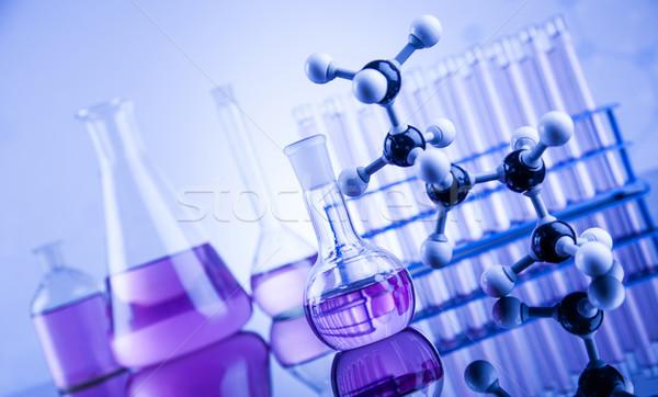 Laboratuvar züccaciye cam kimya bilim sağlık Stok fotoğraf © JanPietruszka