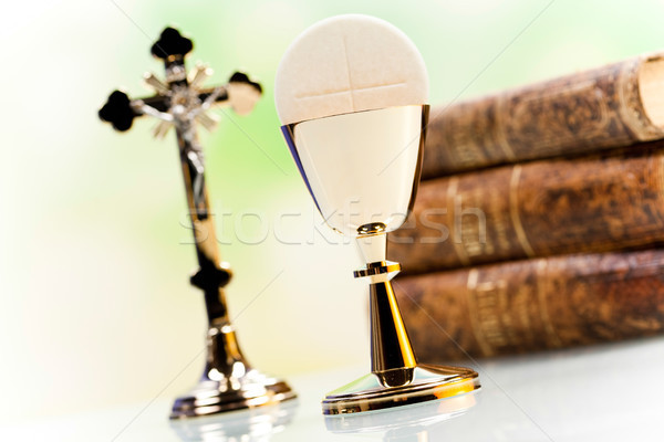 Stock photo: Holy communion, bright background, saturated concept