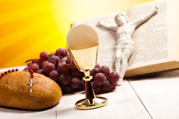 Szimbólum kereszténység vallás fényes könyv kereszt Stock fotó © JanPietruszka