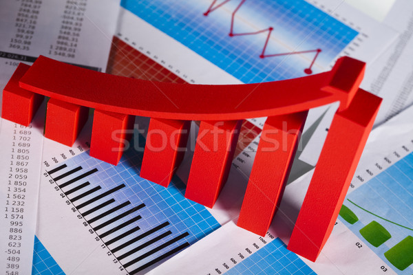 Gráfico de negocio signo financiar gráfico tabla stock Foto stock © JanPietruszka