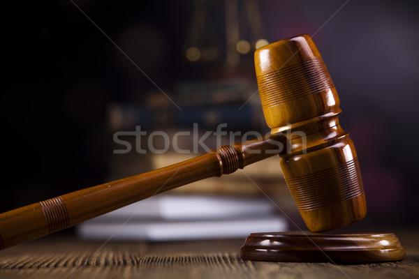Juiz advogado tribunal objeto gabela leilões Foto stock © JanPietruszka
