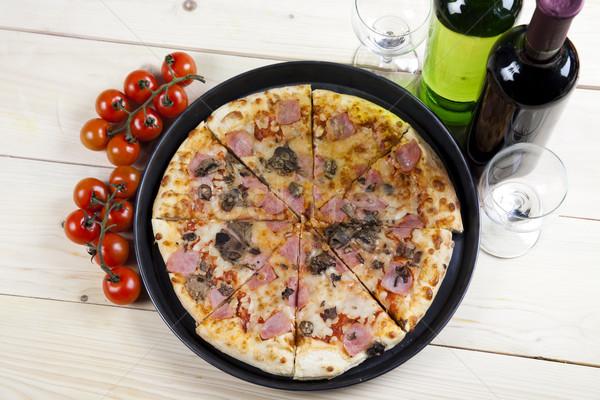 Italian pizza, tasty natural food theme Stock photo © JanPietruszka