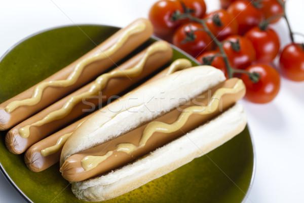 American hot dog, bright colorful vivid theme Stock photo © JanPietruszka