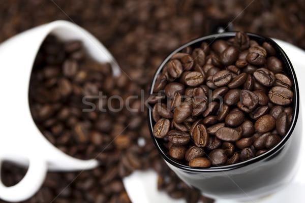 Beker koffie levendig heldere textuur voedsel Stockfoto © JanPietruszka