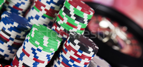 Playing roulette in the casino Stock photo © JanPietruszka