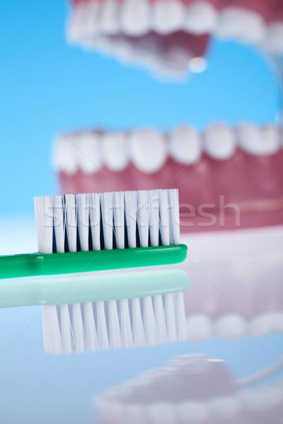 Dentales objetos vidrio salud bano Foto stock © JanPietruszka
