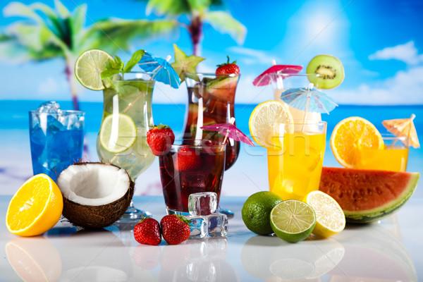 Cócteles alcohol beber naturales colorido alimentos Foto stock © JanPietruszka